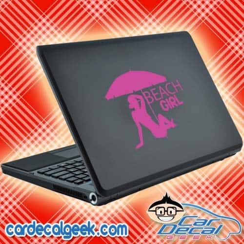 Beach Girl Laptop Decal Sticker