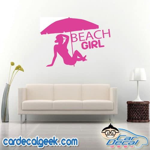 Beach Girl Wall Decal Sticker
