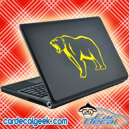 Growling Bear Laptop Decal Sticker