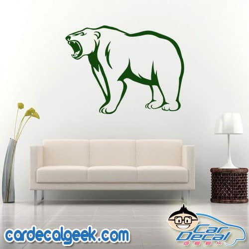 Growling Bear Wall Decal Sticker