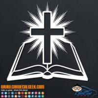 Amazing Bible Cross Light Decal Sticker
