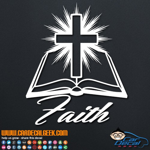 Bible Cross Faith Decal Sticker