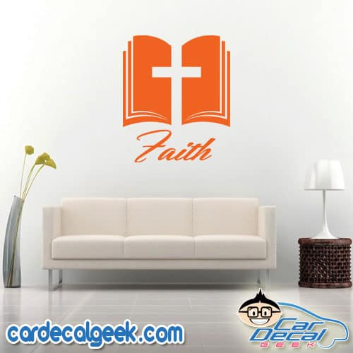 Bible Cross Faith Wall Decal Sticker