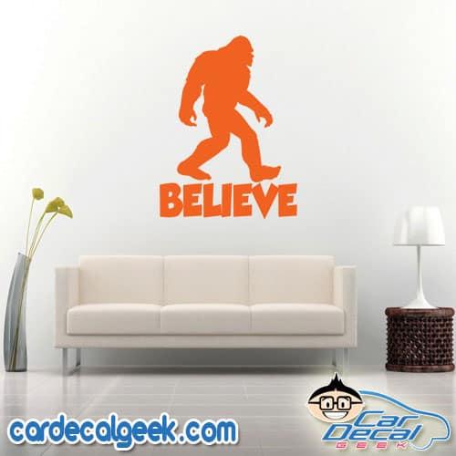 Bigfoot Believer Wall Decal Sticker