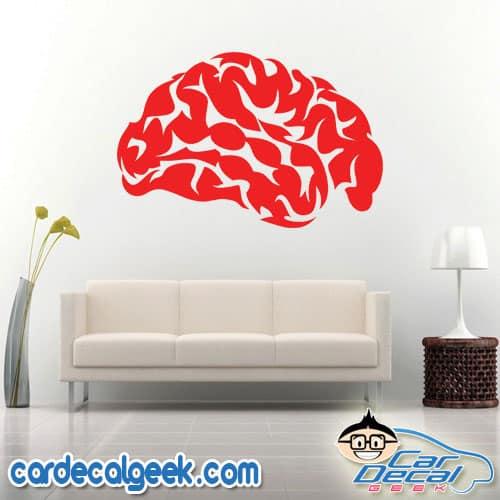 Human Brain Wall Decal Sticker