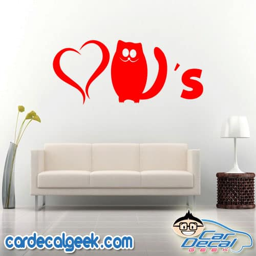 Love Cats Wall Decal Sticker