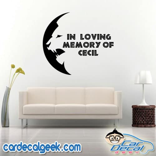 Cecil the Lion Moon Wall Decal Sticker