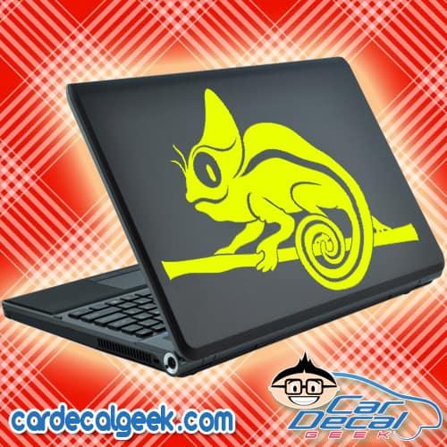 Cute Chameleon Lizard Laptop Decal Sticker