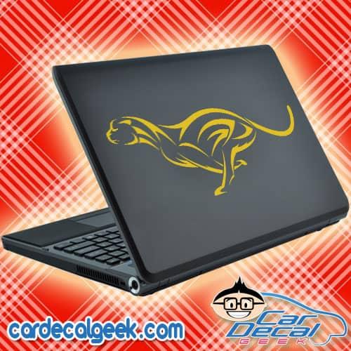 Cheetah Cat Laptop Decal Sticker
