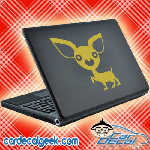 Cute Chihuahua Laptop Decal Sticker