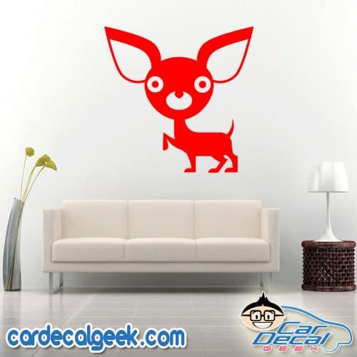 Cute Chihuahua Wall Decal Sticker