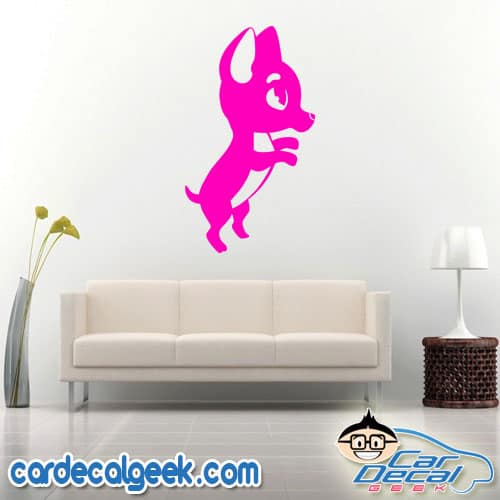 Standing Chihuahua Wall Decal Sticker