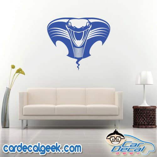 Cobra Snake Head Wall Decal Sticker