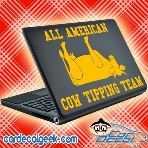 All American Cow Tipping Team Laptop Decal Sticker