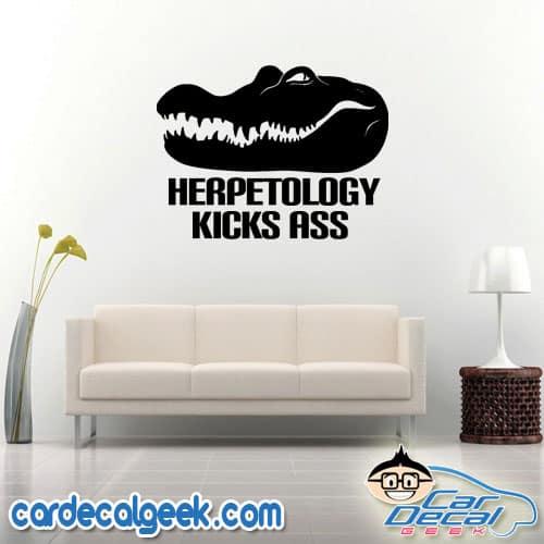 Crocodile / Alligator Head Herpetology Kicks Ass Wall Decal Sticker