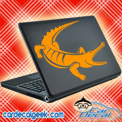 Croc Gator Laptop Decal Sticker