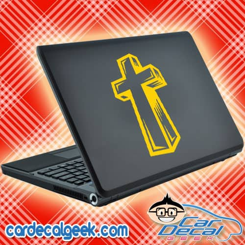 Awesome Religious Cross Laptop Decal Sticker