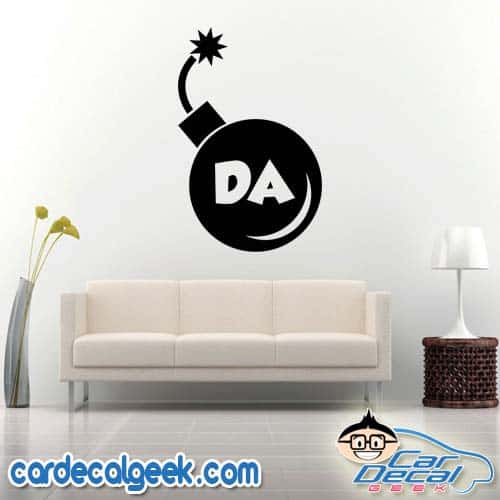 Da Bomb Wall Decal Sticker