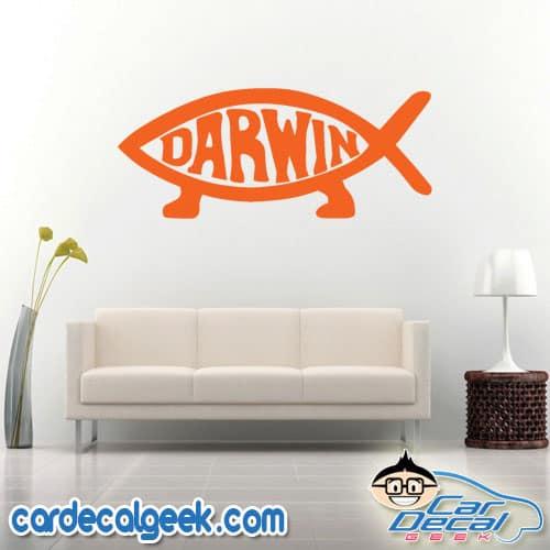 Darwin Fish Evolution Wall Decal Sticker