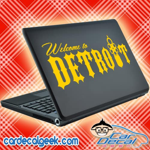 Welcome to Detroit Laptop Decal Sticker