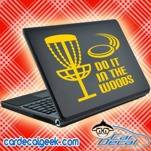 Disc Golf Do It In The Woods Laptop Decal Sticker