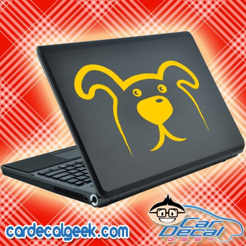 Cute Doggie Face Laptop Decal Sticker