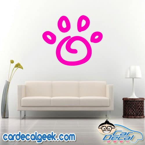 Awesome Dog Paw Wall Decal Sticker
