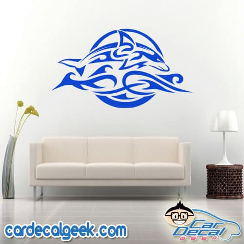 Tribal Dolphin Wall Decal Sticker