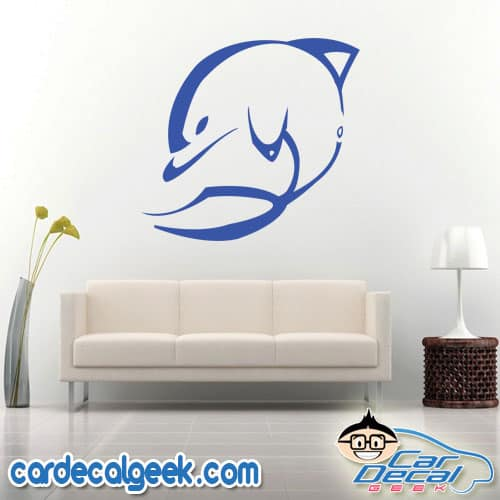 Abstract Dolphin Wall Decal Sticker