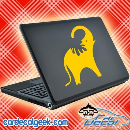 Elephant Shower Laptop Decal Sticker