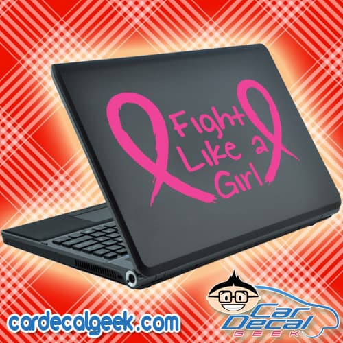 Fight Cancer Like a Girl Laptop Decal Sticker