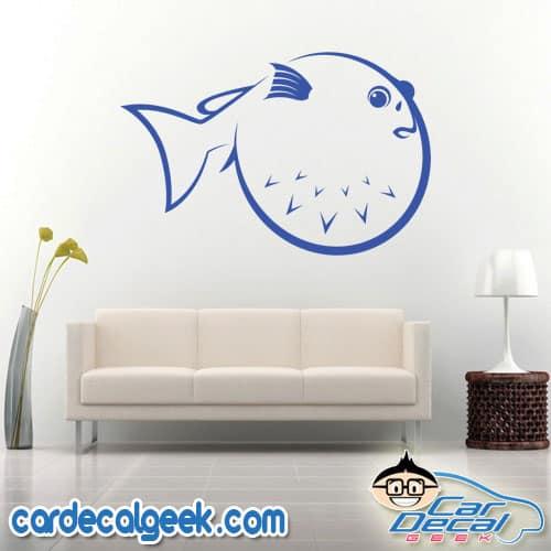 Puffer Fish Wall Decal Sticker