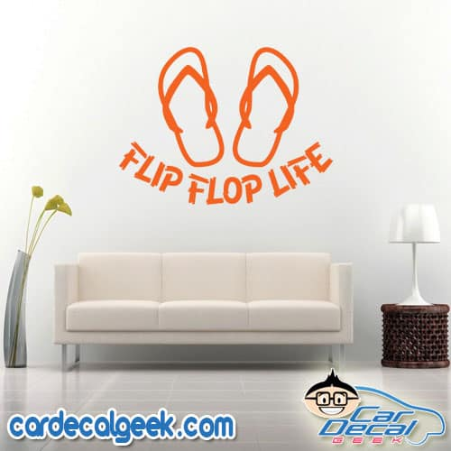 Flip Flop Life Wall Decal Sticker