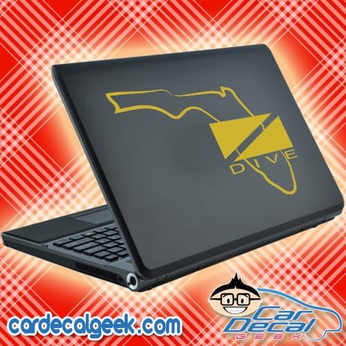 Florida Scuba Dive Flag Laptop Decal Sticker