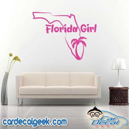 Florida Girl Wall Decal Sticker