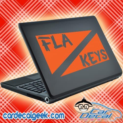 Florida Keys Scuba Dive Flag Laptop Decal Sticker
