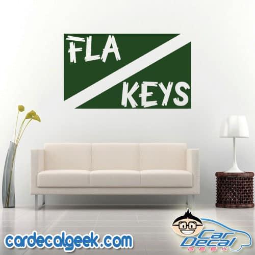 Florida Keys Scuba Dive Flag Wall Decal Sticker