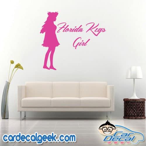 Florida Keys Girl Wall Decal Sticker
