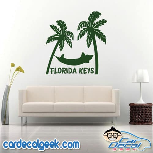 Florida Keys Tropical Hammock Wall Decal Sticker