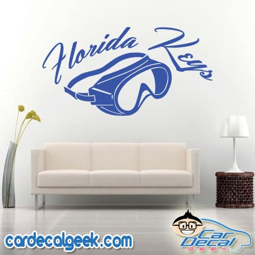 Florida Keys Scuba Mask Wall Decal Sticker