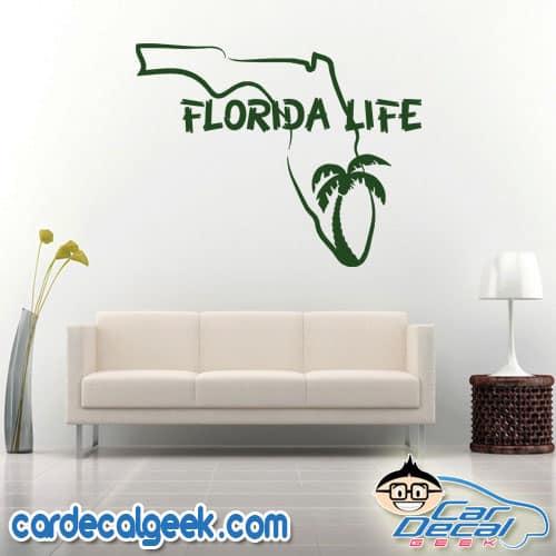 Florida Life Wall Decal Sticker