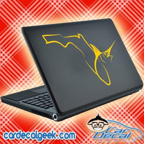 Florida Fishing Marlin Swordfish Laptop Decal Sticker