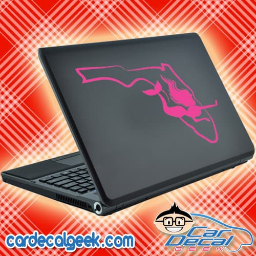 Florida Mermaid Laptop Decal Sticker