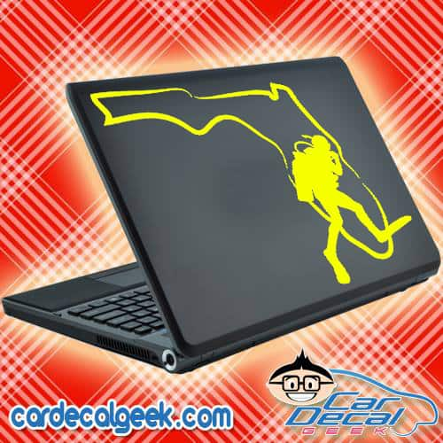 Scuba Diver Laptop Decal Sticker