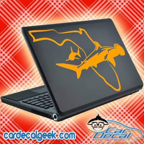 Florida Swimming Sharks Laptop Decal Sticker