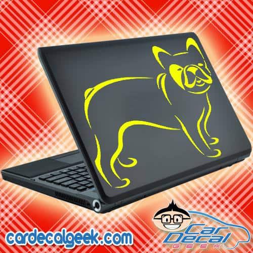 French Bulldog Laptop Decal Sticker