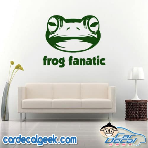 Frog Fanatic Wall Decal Sticker