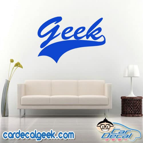 Geek Athletic Wall Decal Sticker