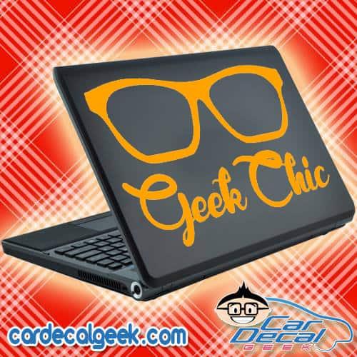 Geek Chic Laptop Decal Sticker