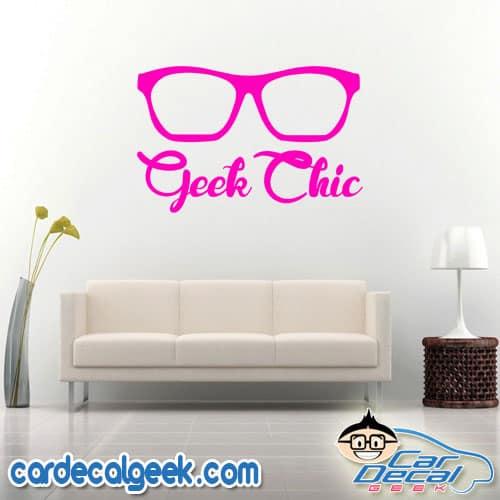 Geek Chic Wall Decal Sticker